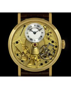 Breguet La Tradition Gents 18k Yellow Gold Open Worked Dial B&P 7027BA