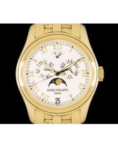 Patek Philippe Annual Calendar Men's 18k Yellow Gold White Ceramic Dial 5036/1J-001