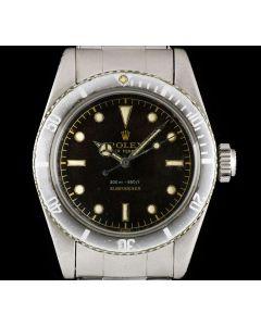 Rolex Very Rare Submariner James Bond Vintage Men's Stainless Steel Big Crown Tropical Gilt Dial No Crown Guard 6538