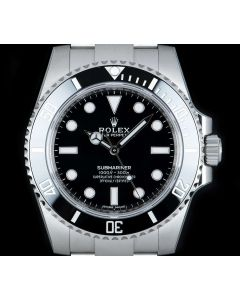 Rolex Unworn Submariner Non-Date Stainless Steel Ceramic Bezel B&P 114060