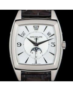 Patek Philippe Gondolo Annual Calendar Men's 18k White Gold Silver Dial B&P 5135G-001