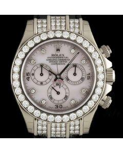 Rolex Unworn 18k White Gold Mother Of Pearl Dial Diamond Set Daytona B&P 116599RBR