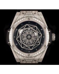 Hublot Limited Edition Big Bang Sang Bleu One Click Stainless Steel Black Dial B&P 465.SS.1117.VR.1204.MXM17