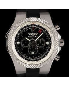 Breitling For Bentley GMT World Timer Chronograph Special Edition Stainless Steel Black Dial B&P A47362