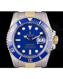 Rolex Submariner Date Stainless Steel & Yellow Gold B&P 116613LB