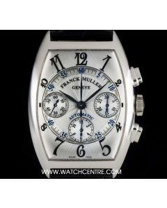 Franck Muller 18k White Gold Master Banker Chronograph B&P 7850 CC