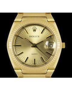 Rolex Rare Texan Beta 21 Vintage Men's 18k Yellow Gold Champagne Dial 5100