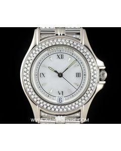 Mauboussin 18k White Gold Mother of Pearl Dial Diamond Set Ladies Wristwatch