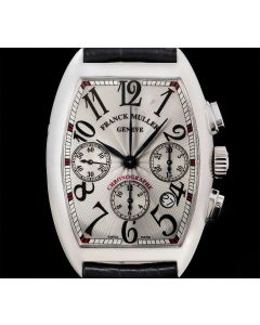 Franck Muller Cintr e Curvex Chronograph Gents Stainless Steel Silver Dial 7880 CC AT