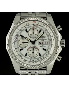 Breitling Stainless Steel White Dial Special Edition Bentley Motors GT A13362