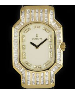 Corum Rue De La Paix Women's 18k Yellow Gold White Dial Diamond Set 185.751.56