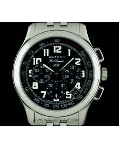 Zenith Stainless Steel Black Dial El Primero Chronograph HW 02.0500.420