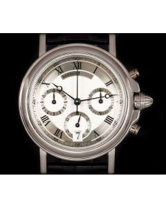 Breguet Marine Chronograph Gents Platinum Silver Dial 3460PT/12/996