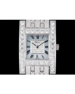 Chopard Your Hour Women's 18k White Gold Mother Of Pearl Dial Diamond Set 106805-1002