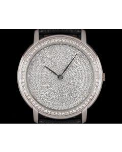 Audemars Piguet Jules Audemars Men's 18k White Gold Pave Diamond Dial Diamond Set