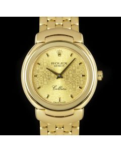 Rolex Cellini Women's 18k Yellow Gold Champagne Jubilee Dial 6621