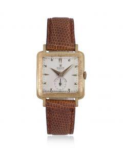 Rolex 18k Rose Gold Cream Dial Vintage Men's Wristwatch 4643