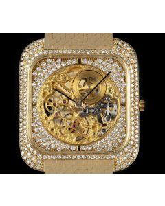 Vacheron Constantin Diamond Set Men's 18k Yellow Gold Skeleton Dial 33514