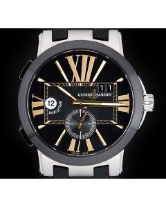 Ulysse Nardin Executive Dual Time Gents Stainless Steel & Black Ceramic Black Dial 243-00
