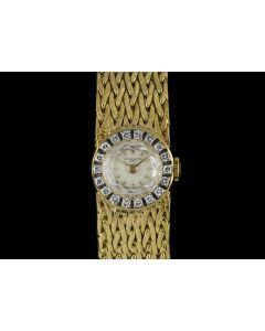 Patek Philippe 18k Yellow Gold Diamond Bezel Cocktail Vintage Women's 3267