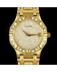 Concord Saratoga Ladies 18k Yellow Gold Pave Diamond Dial Diamond Set 5173287