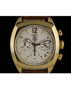 Tag Heuer Yellow Gold Silver Dial Classic Monza B&P CR514A.FC8145