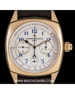 Vacheron Constantin Unworn 18k Rose Gold Harmony Chronograph 260th Anniversary Limited Edition B&P 5300S/000R-B055