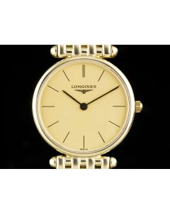 Longines 18k Yellow Gold Champagne Dial Agassiz Ladies L4.191.6.32.6