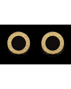 Bvlgari Bvlgari Onyx Set Gents 18k Yellow Gold Cufflinks