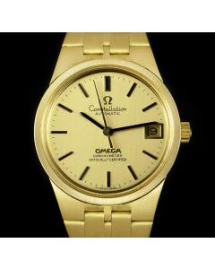 Omega Constellation Gents 18k Yellow Gold Champagne Dial