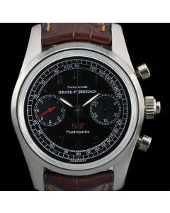 Girard Perregaux Limited Edition Split Seconds Chronograph Gents 18k White Gold Black Dial 9020