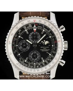 Breitling Stainless Steel Black Dial Navitimer 1461 Gents B&P A1937012