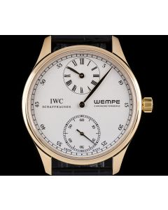 IWC Rose Gold Silver Dial Portuguese Limited Edition Wempe Regulateur Men's B&P IW544303