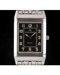 Jaeger LeCoultre Stainless Steel Black Dial Reverso Gents 251.8.86