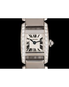 Cartier Tankissime Women's 18k White Gold Silver Dial WE70069H