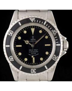 Tudor Submariner Gents Vintage Gents Stainless Steel Black Dial 7928