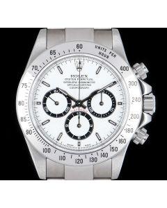 Rolex Unworn Zenith Movement Cosmograph Daytona NOS Men's Stainless Steel White Dial 16520