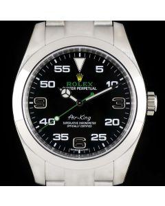 Rolex Unworn Air-King Men's Stainless Steel Black Dial B&P 116900