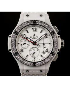 Hublot White Ceramic Case Diamond Bezel Big Bang Aspen 341.CL.230.RW.114