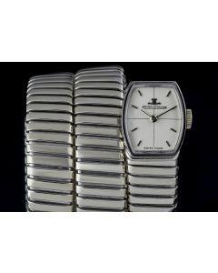 Jaeger LeCoultre & Bvlgari 18k White Gold Cream Dial Rare Vintage Tubogas