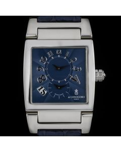 De Grisogono Platinum Blue Dial Instrumento Dual Time Limited Edition UNO DF