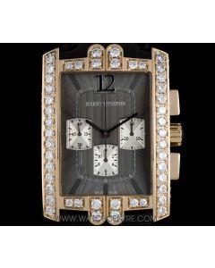 Harry Winston 18k Rose Gold Diamond Set Avenue Chronograph Gents 330/MCA