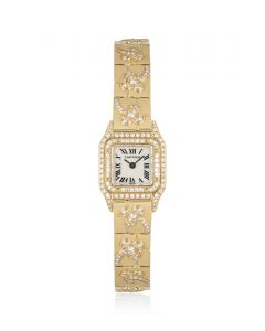 Cartier Panthere Mini Women's 18k Yellow Gold Mother of Pearl Dial Diamond Set