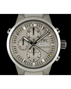 IWC Stainless Steel Silver Dial Rattrapante Chronograph Gents B&P IW371508