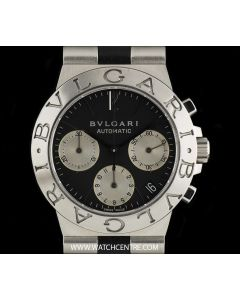Bvlgari Stainless Steel Black Dial Diagono Chronograph Gents CH35S