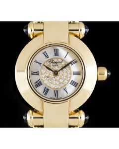 Chopard 18k Yellow Gold Mother Of Pearl & Diamond Set Dial Imperiale Women's B&P 39/3211-23