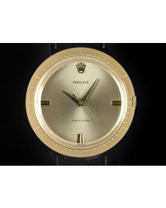 Rolex Precision Vintage Men's 18k Yellow Gold Champagne Dial 9919