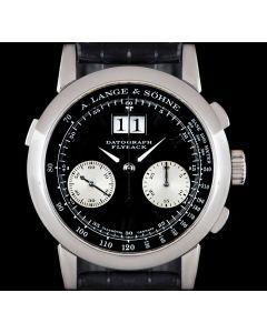 A.Lange & Sohne Datograph Gents Platinum Black Dial 403.035