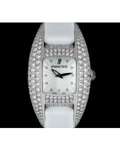 Audemars Piguet Dream Women's 18k White Gold Silver Guilloche Dial Diamond Set 67496BC.ZZ.A011SU.01