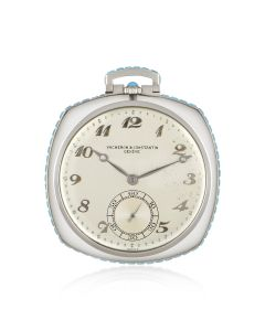 Vacheron Constantin Rock Crystal and Turquoise Set Pocket Watch